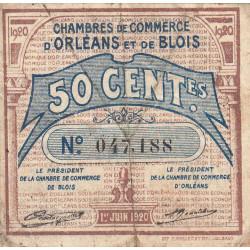 Orléans et Blois - Pirot 96-1 - 50 centimes - 01/06/1920 - Etat : B+