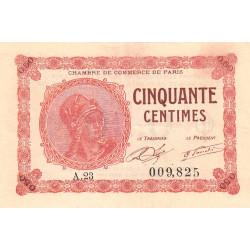 Paris - Pirot 97-10 - 50 centimes - Série A.23 - 10/03/1920 - Etat : SUP