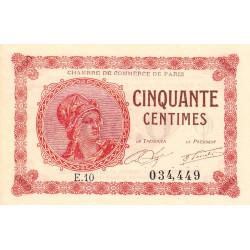 Paris - Pirot 97-10 - 50 centimes - Série E.10 - 10/03/1920 - Etat : NEUF