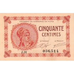 Paris - Pirot 97-10-J - 50 centimes - Etat : pr.NEUF