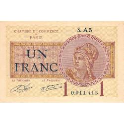 Paris - Pirot 97-23 - 1 franc - Série A5 - 10/03/1920 - Etat : SUP+