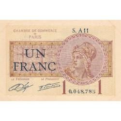 Paris - Pirot 97-23 - 1 franc - Série A11 - 10/03/1920 - Etat : SUP+