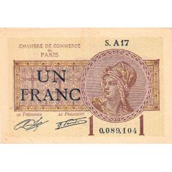 Paris - Pirot 97-23-A - 1 franc - Etat : TTB+