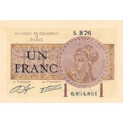 Paris - Pirot 97-23 - 1 franc - Série B76 - 10/03/1920 - Etat : SUP