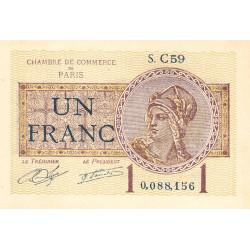 Paris - Pirot 97-23 - 1 franc - Série C59 - 10/03/1920 - Etat : SPL+