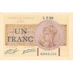 Paris - Pirot 97-23 - 1 franc - Série E49 - 10/03/1920 - Etat : SPL