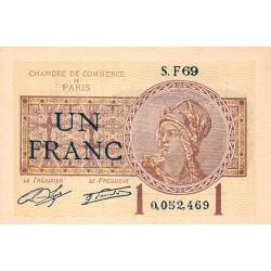 Paris - Pirot 97-23 - 1 franc - Série F69 - 10/03/1920 - Etat : SUP