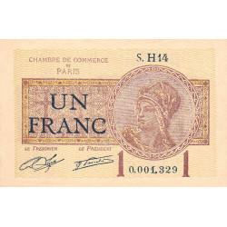 Paris - Pirot 97-23 - 1 franc - Série H14 - 10/03/1920 - Etat : SUP+
