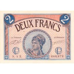 Paris - Pirot 97-28a - 2 francs - Série A 2. - 10/03/1920 - Etat : SUP+