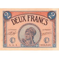 Paris - Pirot 97-28b - 2 francs - Série A.3.- 10/03/1920 - Etat : SUP