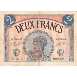 Paris - Pirot 97-28b - 2 francs - Série A.3. - 10/03/1920 - Etat : TB-