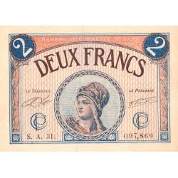 Paris - Pirot 97-28b - 2 francs - Série A.31. - 10/03/1920 - Etat : TTB+
