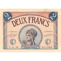 Paris - Pirot 97-28b - 2 francs - Série A.44 - 10/03/1920 - Etat : TB+