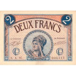 Paris - Pirot 97-28b - 2 francs - Série A.97 - 10/03/1920 - Etat : TTB