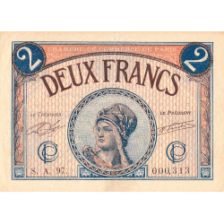 Paris - Pirot 97-28b-A - 2 francs - Etat : TTB