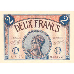Paris - Pirot 97-28b-A - 2 francs - Etat : SUP+