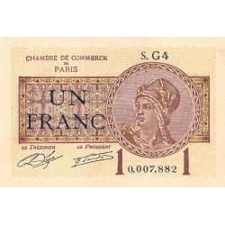 Paris - Pirot 97-23 - 1 franc - Série G4 - 10/03/1920 - Etat : SUP+