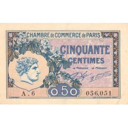 Paris - Pirot 97-31 - 50 centimes - Série A.6 - 10/03/1920 - Etat : SUP+