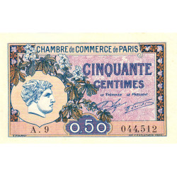 Paris - Pirot 97-31 - 50 centimes - Série A.9 - 10/03/1920 - Etat : pr.NEUF