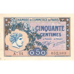 Paris - Pirot 97-31 - 50 centimes - Série A.14 - 10/03/1920 - Etat : SUP-