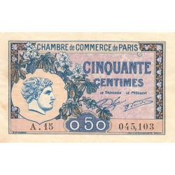 Paris - Pirot 97-31 - 50 centimes - Série A.15 - 10/03/1920 - Etat : TTB