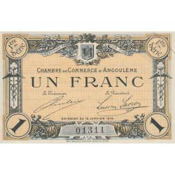 Angoulême - Pirot 9-3 - 1 franc - 1ère série - 15/01/1915 - Etat : SPL