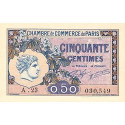 Paris - Pirot 97-31 - 50 centimes - Série A.23 - 10/03/1920 - Etat : NEUF
