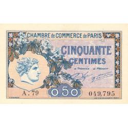 Paris - Pirot 97-31 - 50 centimes - Série A.79 - 10/03/1920 - Etat : NEUF