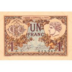 Paris - Pirot 97-36 - 1 franc - Série A.5 - 10/03/1920 - Etat : SUP+