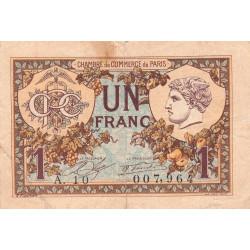 Paris - Pirot 97-36-A - 1 franc - Etat : TB-