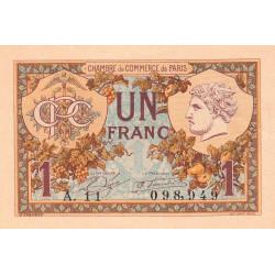 Paris - Pirot 97-36 - 1 franc - Série A.11 - 10/03/1920 - Etat : SPL