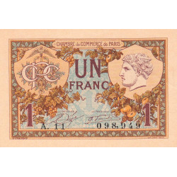 Paris - Pirot 97-36-A - 1 franc - Etat : SPL