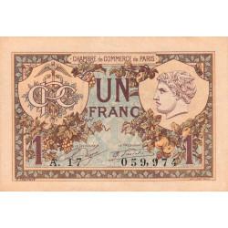 Paris - Pirot 97-36-A - 1 franc - Etat : SUP