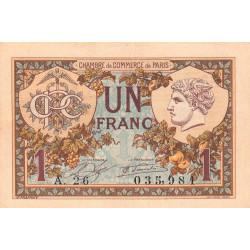 Paris - Pirot 97-36-A - 1 franc - Etat : TTB+