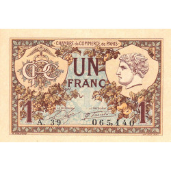 Paris - Pirot 97-36-A - 1 franc - Etat : NEUF