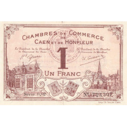 Caen / Honfleur - Pirot 34-1 - 1 franc - Série 002 - 1915 - Etat : SUP