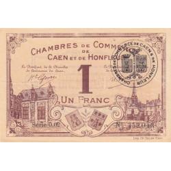 Caen / Honfleur - Pirot 34-3 - 1 franc - Série 002 - 1915 - Etat : SUP