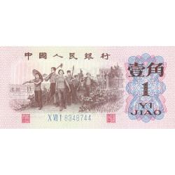 Chine - Peoples Bank of China - Pick 877c - 1 jiao - 1962 - Etat : NEUF