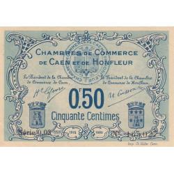 Caen / Honfleur - Pirot 34-4-003 - 50 centimes - 1915 - Etat : SPL