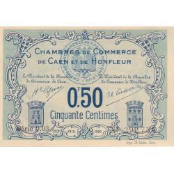 Caen / Honfleur - Pirot 34-4-003 - 50 centimes - 1915 - Etat : SUP+