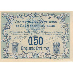 Caen / Honfleur - Pirot 34-4 - 50 centimes - Série 003 - 1915 - Etat : SUP+