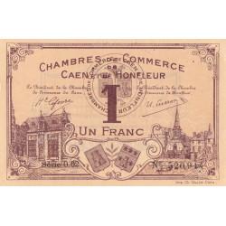 Caen / Honfleur - Pirot 34-6-002 - 1 franc - 1915 - Etat : SUP+