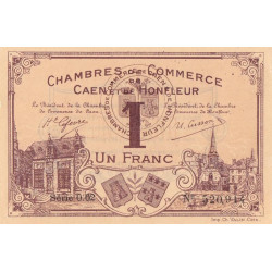 Caen / Honfleur - Pirot 34-6 - 1 franc - Série 002 - 1915 - Etat : SUP+