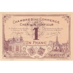 Caen / Honfleur - Pirot 34-6-003 - 1 franc - 1915 - Etat : TTB+