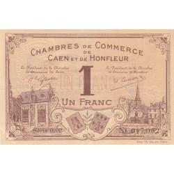 Caen / Honfleur - Pirot 34-8a - 1 franc - Série 002 - 1915 - Etat : SUP