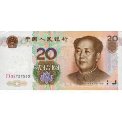 Chine - Peoples Bank of China - Pick 899 - 20 yüan - 1999 - Etat : SPL