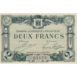Angoulême - Pirot 9-6 - 2 francs - 1915 - Etat : SPL