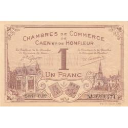 Caen / Honfleur - Pirot 34-8b - 1 franc - Série 002 - 1915 - Etat : SPL