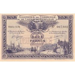 Caen / Honfleur - Pirot 34-10 - 2 francs - Série 001 - 1915 - Etat : SUP+