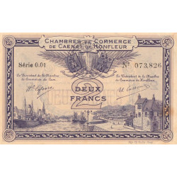 Caen / Honfleur - Pirot 34-10-001 - 2 francs - 1915 - Etat : SUP
